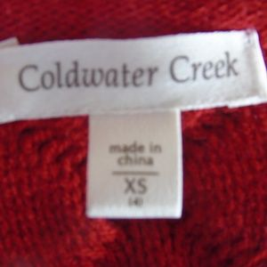 Coldwater Creek Sweaters - coldwater creek cable knit sweater xs 4